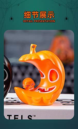 Z1 5 portavelas decorativos, diseño de esqueleto, para Halloween, luces de té LED de calavera, 4 unidades, color naranja