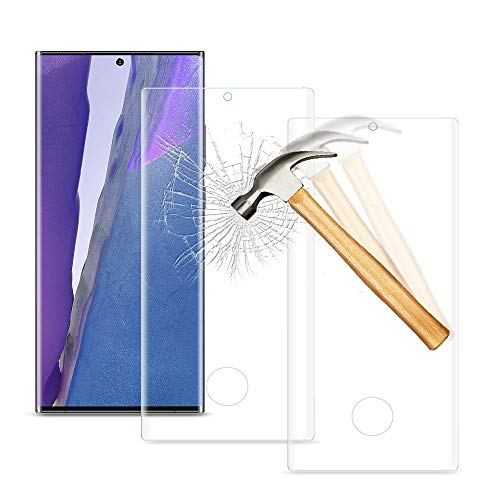 wsky [2 Stück] Panzerglas für Samsung Galaxy Note 20 Ultra, Anti-Kratzen, Blasenfrei, 0.25mm Ultra Dünn Schutzfolie Blasenfrei für Samsung Note 20 Ultra