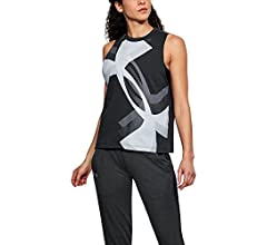 Under Armour Womens Overlay Logo Muscle Tank Under Armour Apparel 1310481