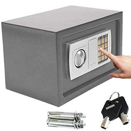 Safe Box High Security Steel Lock Safes and Lock Boxes, Money Box, Safety...