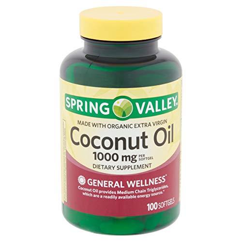 Spring Valley Extra Virgin Coconut Oil 1000 MG 100 Softgels