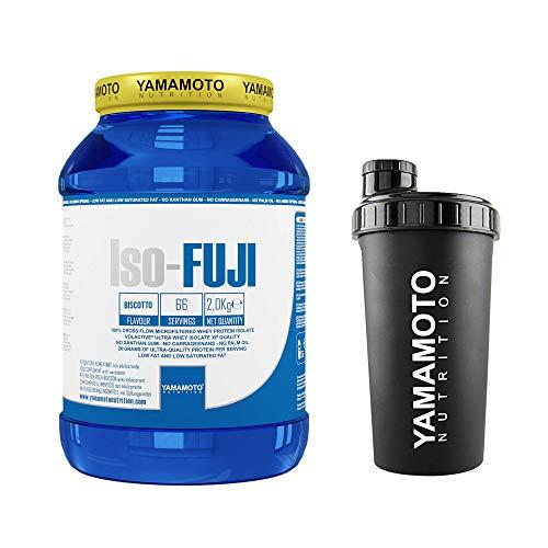 Yamamoto Nutrition Iso-FUJI proteine del siero di latte - 2 kg (Biscotto, 2 kg + Shaker)