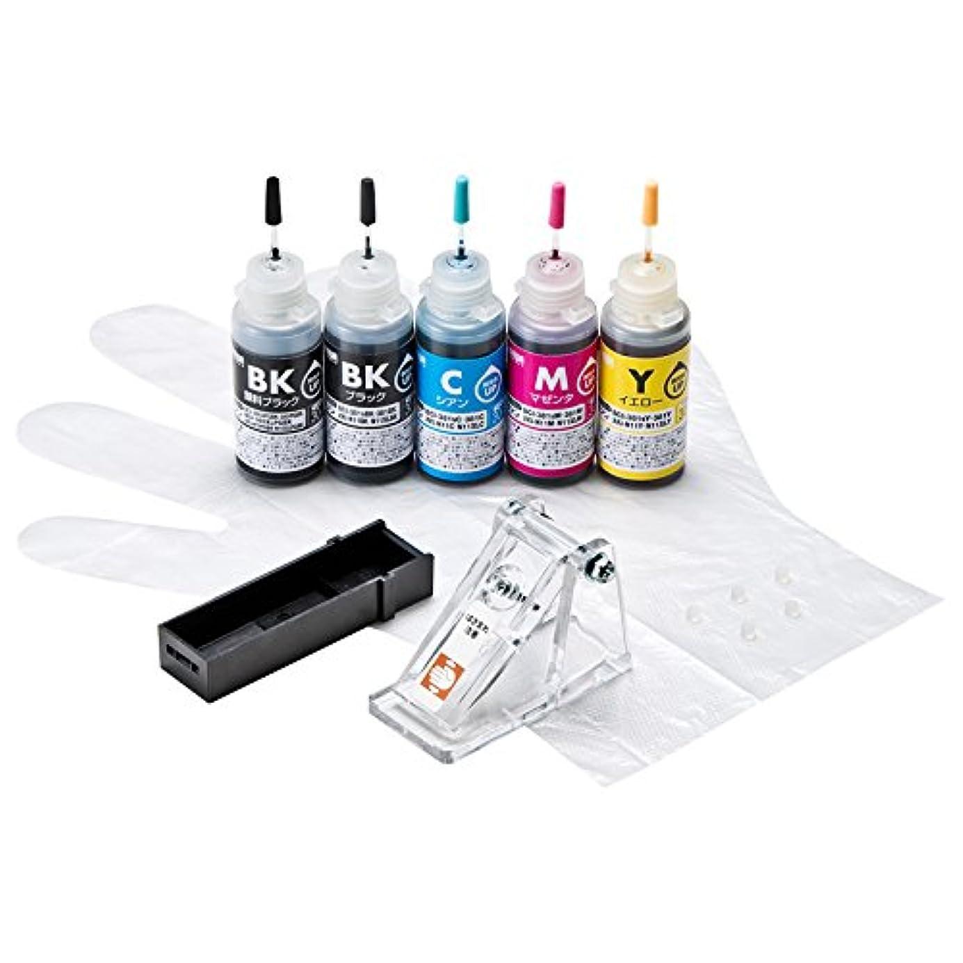 トーン放課後懐疑論サンワサプライ アウトレット 詰め替えインク BCI-380/XKI-N10PGBK?381/N11BK?C?M?Y用 INK-C380S30S5 箱にキズ、汚れのあるアウトレット品です。