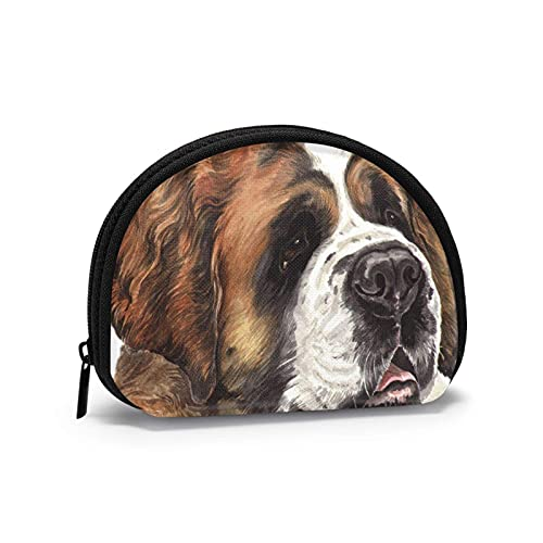 Charm Saint Bernard Feo perro viejo impreso temático cambio monedero lindo Shell almacenamiento...