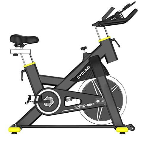 Ejercicio bicicleta estacionaria 440 lbs de capacidad de peso - Bicicleta de ciclismo interior con cómodo cojín de asiento, tableta y monitor LCD - Máquina de gimnasia para entrenamiento en casa.