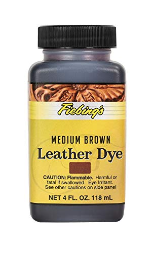 Fiebing's Leather Dye - Alcohol Based Permanent Leather Dye - 4 oz - Medium Brown