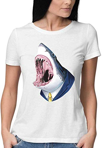 Mrs Shark Please Show Your Teeth Round Neck Camiseta Mujer XX-Large