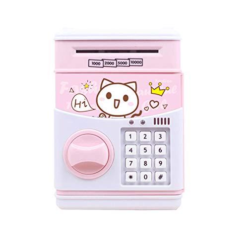 EPMEA0 1pc Electronic Piggy Bank Monedas Digitales Ahorro de Efectivo Caja de Dinero Seguro para niños Depósito ATM Regalo de cumpleaños 13.5x12.3x18.9cm