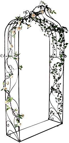 Arcos de madera de jardín de madera para jardín para el cultivo de plantas, amplia 7'6'x 4'5',Black