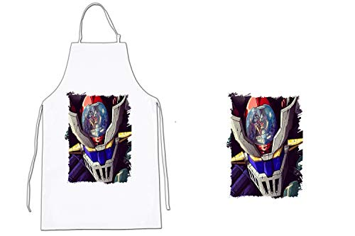 MERCHANDMANIA Delantal A3 Mazinger Z Cocina Kitchen Apron