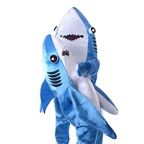 Dastrues Moderno Adulto Infantil Mono Cosplay Traje Tiburón Stage Ropa Disfraz de Halloween Navidad Props - Infantil, Small