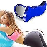 MAN NUO Kegel Exerciser Pelgrip Pelvis Floor Muscle Medial Exerciser Clip Hips Muscle Inner Thigh Exercise Equipment Pelvic Correction Trainer for Women,Have Baby/Sedentarye/Hip Flat (Blue)