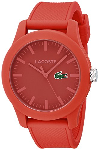 Lacoste Men's 2010764 Lacoste.12.12 Red Watch with Textured Band