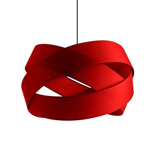 BIJOU XXL - Suspension Textile Rouge Ø58cm - Suspension Metropolight designé par