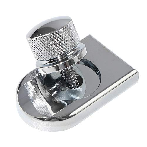 Buyinhouse Motorcycle Seat Bolt Tab Screw Mount Knob Cover for Harley Fatboy Road King Softail 1996-2020,Chrome