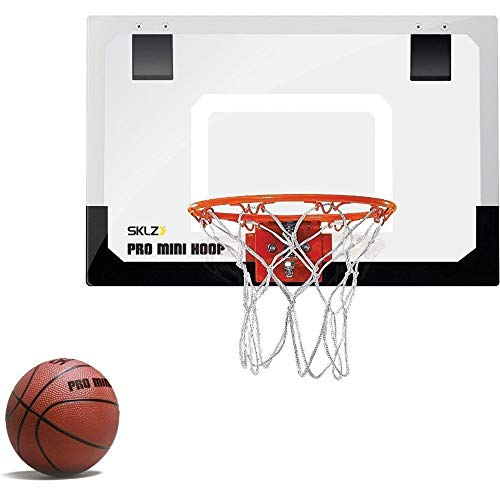 "SKLZ Pro Mini Basketball Hoop W/Ball. 18""x12"" Shatter Resistant Backboard. (Renewed)"