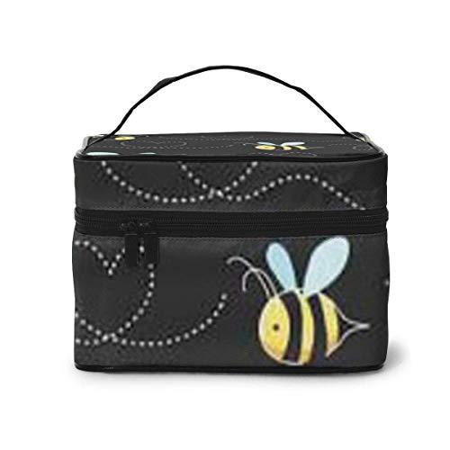 Bumble Bees Print Travel cosmeticakoffer organizer met ingebouwde tas, multifunctionele koffer toilettas