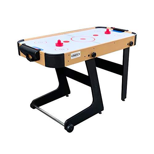 PUCK Calix 4-Foot Folding Air Hockey Table (Brown)