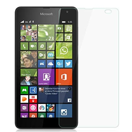 WE-CARE Unbreakable Impossible Anti Shock and Hammer Proof Protection Screen Protector for Microsoft Lumia 535 (Better Than Tempered Glass)