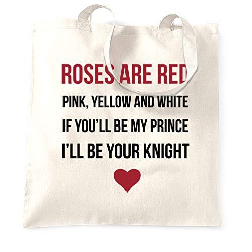 Tim And Ted Valentinstag Tragetasche Romantisches Valentinsgruß-Gedicht White One Size