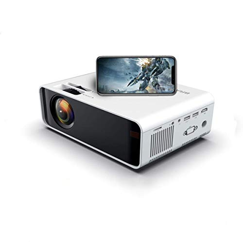 SOTEFE® Mini LED Proyector Portable 7000 Lumens - WiFi Proyector Portátil Full HD 1080P Video Multimedia Para iPhone/Samsung/Sony/Hauwei Smartphone Compatible con HDMI/USB/Tarjeta SD/VGA/AV/TV Box/PS4