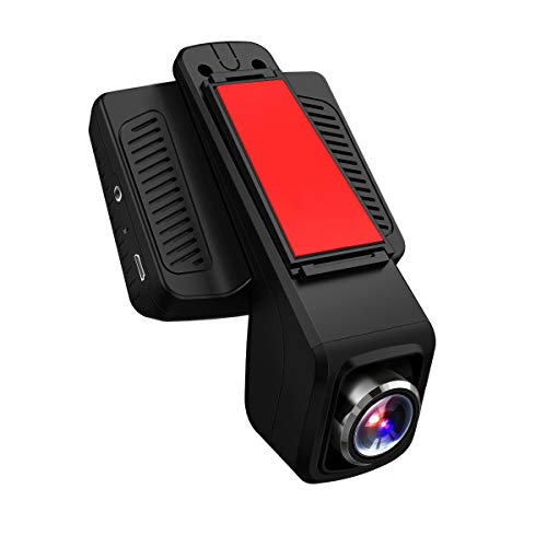 TOGUARD Caméra de Voiture GPS WiFi Grand Angle de 170° Caméra Embarquée Full HD 1080P, Dashcam Voiture Avec Objectif Réglable Écran 2.45 Pouces IPS LCD, Enregistrement En Boucle,Détection de Mouvement