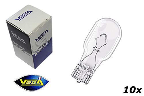VEGA 10 Ampoules W16W T10 W2,1x9,5d Maxi Halogène 12V
