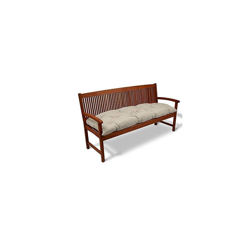 Lovemorebuy Coussin épais pour banc de jardin 2-3 places – Pour intérieur ou extérieur – 120 x 50 x 8 cm – Gris