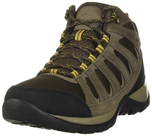 Columbia Redmond V2 Mid, Zapatillas de Senderismo Impermeables Mujer, Marrón (Cordovan, Baker), 44.5 EU