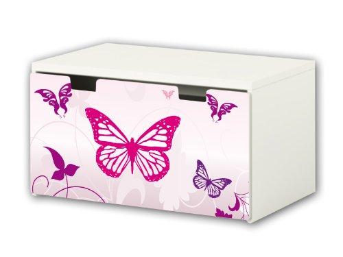 Mariposa pegatinas | pegatinas para muebles | BT16 | adecuado para el arcón de banco STUVA de IKEA para niños (90 x 50 cm) | Perfecto como arcón de juguetes y banco | (mueble no incluido) STIK
