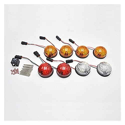NERR YULUBAIHUO 8 unids/Kit Smoke Fit para Land Rover 90/110 83-90 Defensor 90-16 LED Kit de actualización Lámpara Reemplace la posición de Parada de la Cola del indicador Trasero