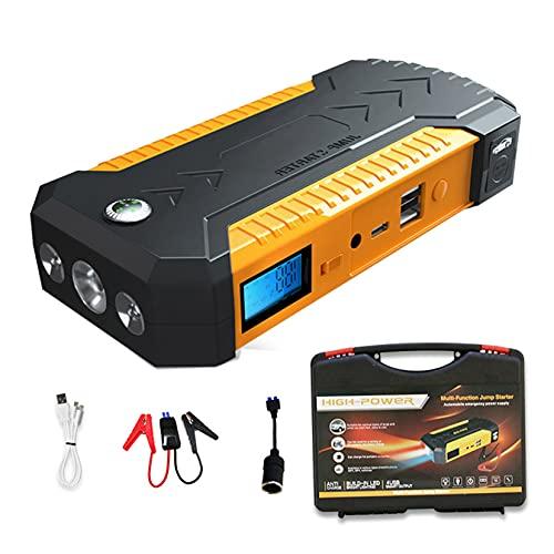 LBYDXD Arrancador de Coche, Paquete Car Jump Starter, 20000mAh 12V Cargador de Emergencia portátil Batería Banco de energía Dispositivo, con luz LED y Puertos USB