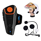 Fodsports BT-S2 Bluetooth Motorrad Intercom Headset Wasserdicht Helm Gegensprechanlage Wireless...