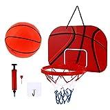 BESPORTBLE 1 juego de mini canasta de baloncesto para interior en casa o oficina, soporte de pared, juguetes de baloncesto, regalo para niños, jóvenes y adolescentes.