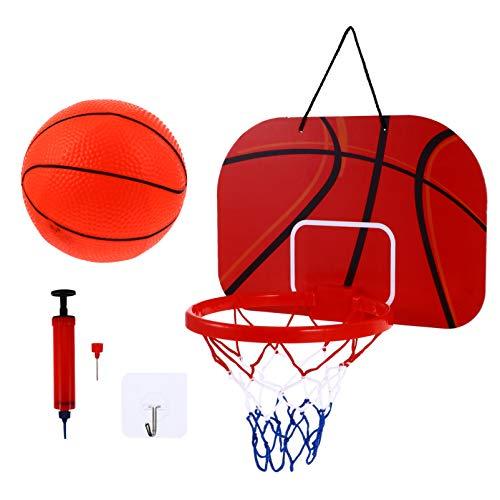 BESPORTBLE 1 Set Indoor Mini Basketballkorb Set Home Office Tür Wandhalterung Basketball Spielzeug Geschenke für Kinder Jungen Teenager