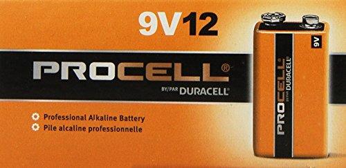Procell 9V Alkaline Battery Bulk Pack - 72 Per Package