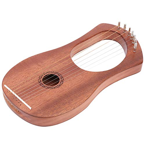 Instrumentos musicales de madera de 7 cuerdas de metal Cómodamente duraderos para...