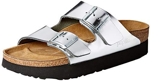 Papillio Damen Arizona Peeptoe Sandalen, Argenté (Platform Metallic Silver Platform Metallic Silver), 38 EU