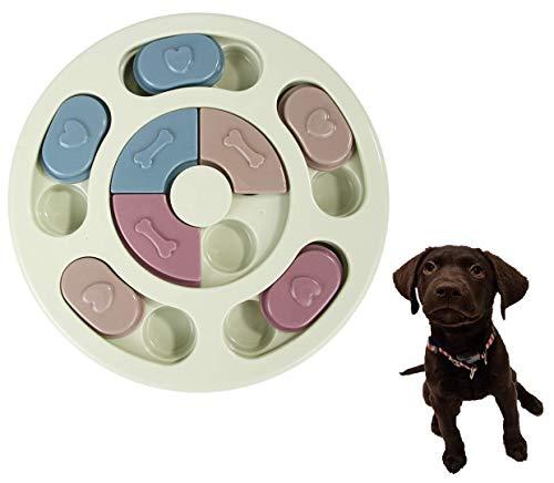 Smart Pet ペット 知育玩具 犬 猫 早食い防止 ペットトレーニング パズルボウル IQ UP! ゲーム おもちゃ Pet Bowl (Round GREEN)