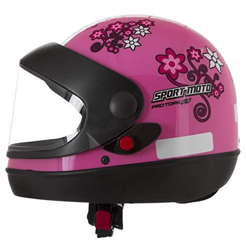 Pro Tork Capacete Sport Moto For Girls 58 Rosa