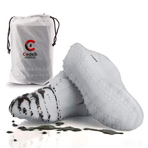 Cedelli®Rainwear | 1 Set M | Silikon Überschuhe für Damen & Herren | Mehrweg Schuhüberzieher Regenüberschuhe Wasserdicht