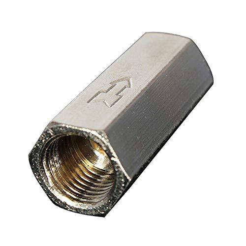 Válvula de retención neumática SUPERTOOL Válvula de retención sin retorno rosca hembra Válvula de retención de aire unidireccional de puerto completo para petróleo y gas de agua (2 unidades, 1/4')