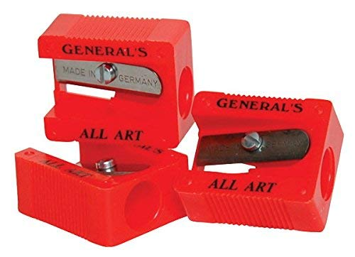 General's Little Red All-Art 1-Hole Pencil Sharpener, Red, Pack of 18