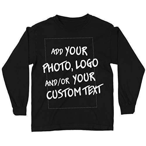 lepni.me Camiseta para Niño/Niña Regalo Personalizado, Agregar Logotipo de la Compañía, Diseño Propio o Foto (12-13 Years Negro Multicolor)