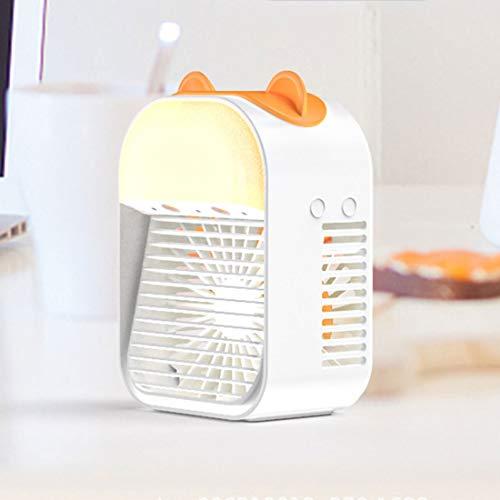 Ventilador De Aire Acondicionado Portátil, Refrigerador De Aire Evaporativo 3 Veloz Escritorio Super Tranquilo Ventilador De Enfriamiento De Aire, Aire Acondicionado Interior Para Viaj(Color:Blanco-C)