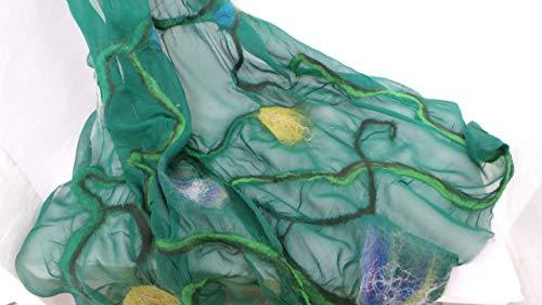 langer Schal aus Wolle und Seide -edler Damenschal