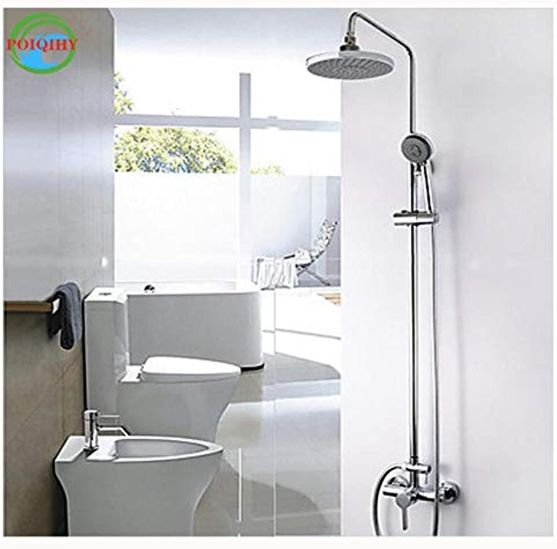 Chrome Bath Shower Set Mixer tub 8  Rainfall Shower Faucet Single Handle with Hand Shower
