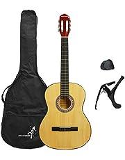 3rd Avenue Rocket XF Serie Guitarra española clásica, color natural, tamaño completo 4/4