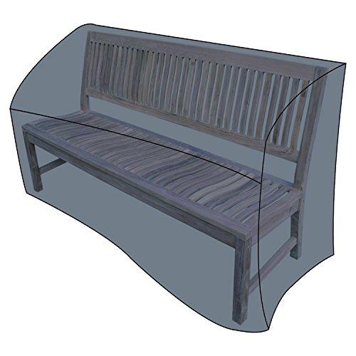 Mojawo Deluxe afdekking beschermhoes beschermkap voor tuinbank bank bank antraciet draagtas Oxfort 420D polyester B160xD75xH80cm