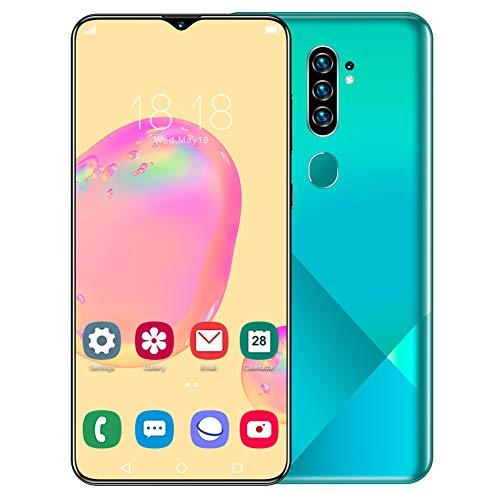 Celulares Desbloqueados Teléfono Móvil Libres Smartphone con Pantalla 6.7 Pulgadas, Mobiles Baratos Libres Dual Sim 2G+32GB & 13MP+24MP, Huella Dactilar/Facial, Android 10.0, Batería 4800mAh(Green)